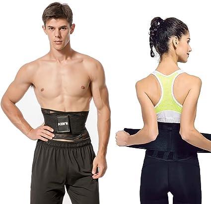 Unisex Waist Slim Belt Black Active Wear Body Outfit Top Brace Back Support