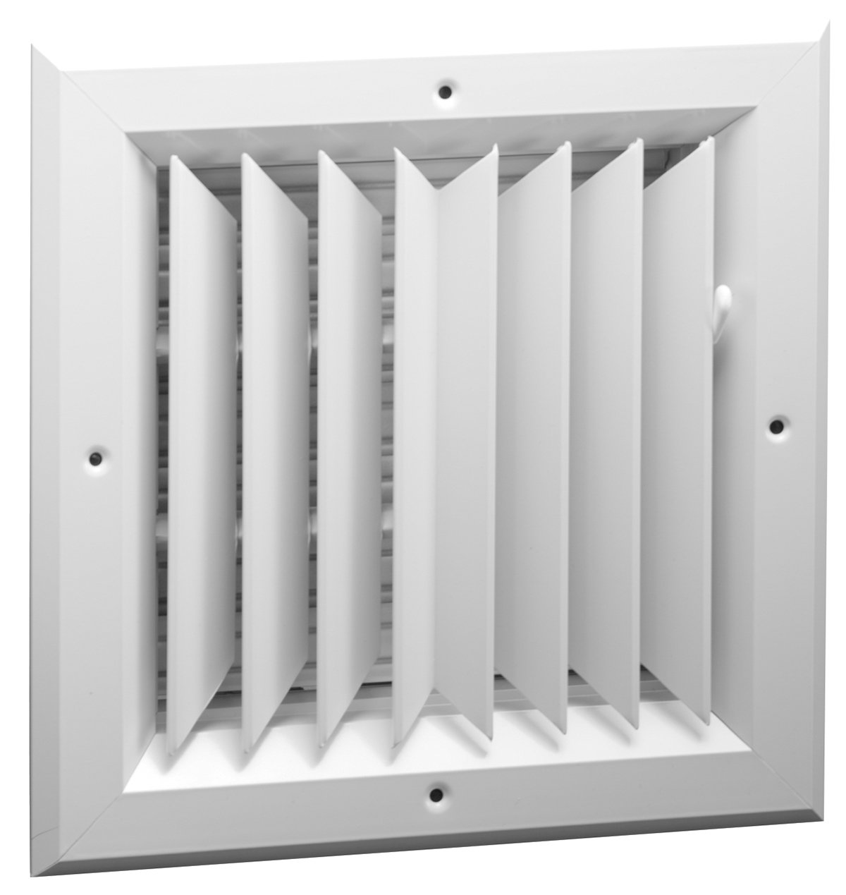 10'' x 10'' 2-WAY ALUMINUM BAR CEILING DIFFUSER - Vent Duct Cover - With Oposing Dampers via Lever Control
