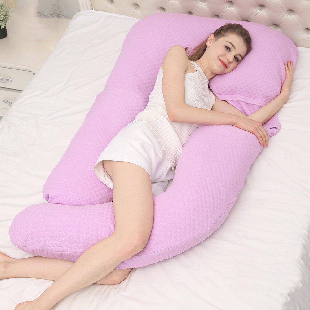 Pregnant women pillow / nursing waist pillow supplies / pillow u-type multi-functional summer sleep sleep pillow / waist pillow ( Color : Purple ) by Pregnant women pillow