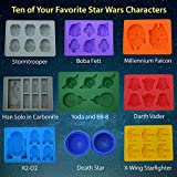 Set of 9 Star Wars Silicone Ice Cube Tray by SimpleMazy | Chocolate Candy Mold And Soap Mold | Make Refreshing and Delicious Figures From Ten of Your Favorite Characters