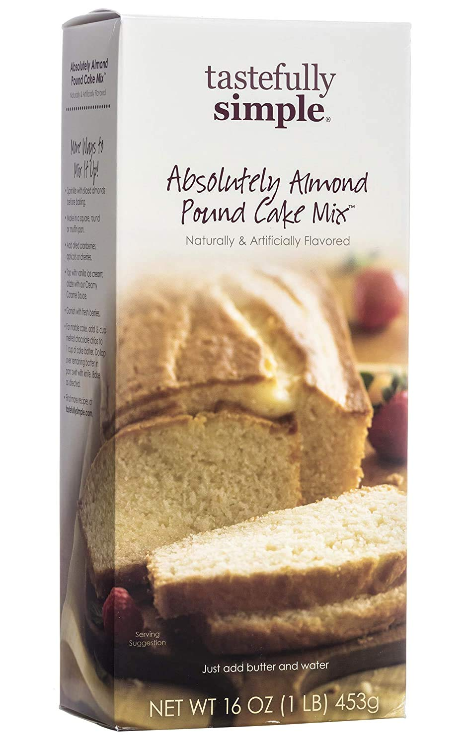 Tastefully Simple Absolutely Almond Pound Cake Mix - Make Cupcakes, Bundt Cakes or Trifle Sponge - 16 oz (2-Pack)