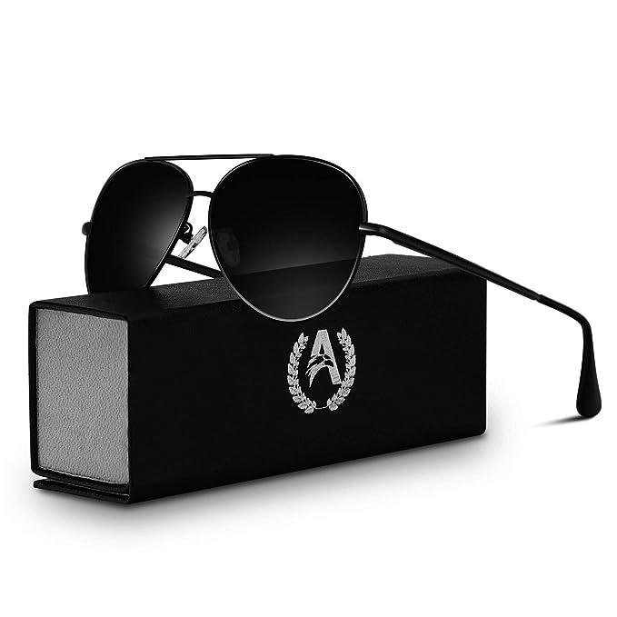 e9a24fa766eee VVA Gafas de sol Hombre Polarizadas Aviador Hombres Aviador Gafas de sol  Polarizadas Hombre Unisex Protección