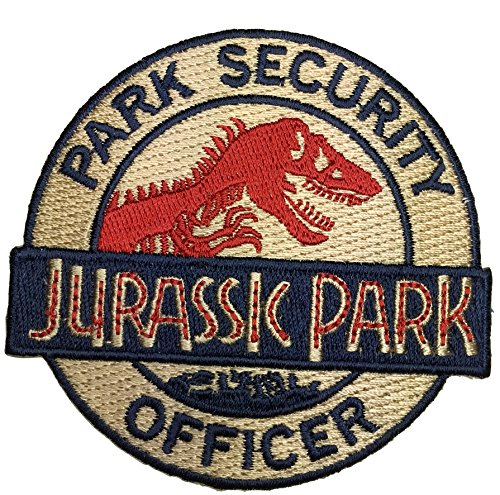 Patch Squad Men's Jurassic Park Asset Containment Unite Shield Patch (Gold Iron/Sew On) Containment Accessories