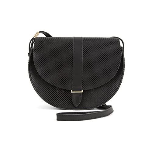 fefac2502 Clare V. Lulu Supreme Black Perforated Leather Shoulder/Crossbody Handbag:  Amazon.ca: Shoes & Handbags