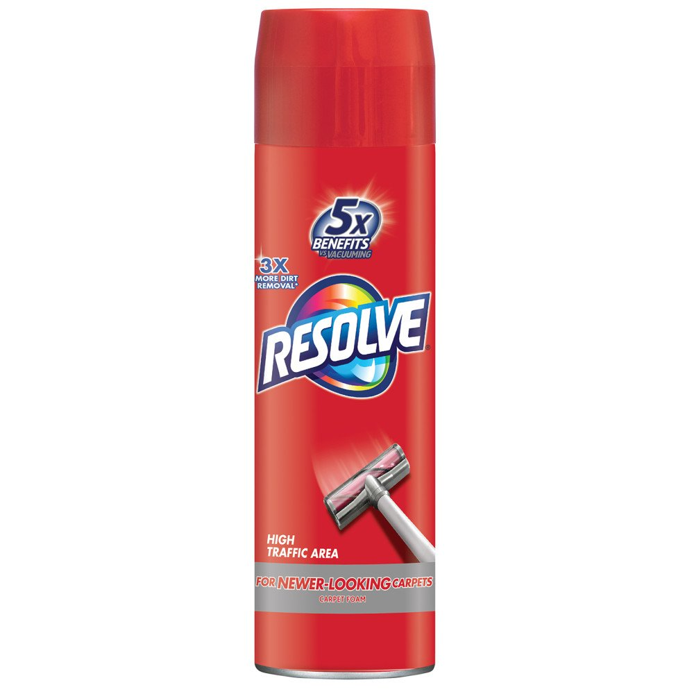 Resolve High Traffic Carpet Foam, 22 oz Can, Cleans Freshens Softens & Removes Stains 1920000706