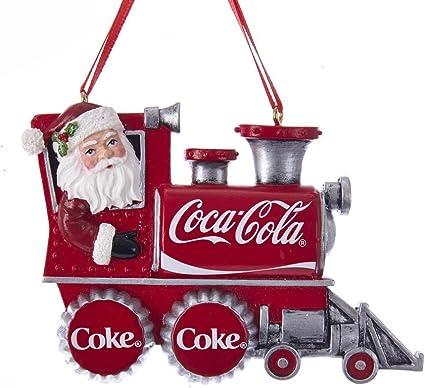 Coca Cola Babbo Natale.Kurt Adler Coca Cola Ornamento Per Treno Di Babbo Natale Amazon It Casa E Cucina