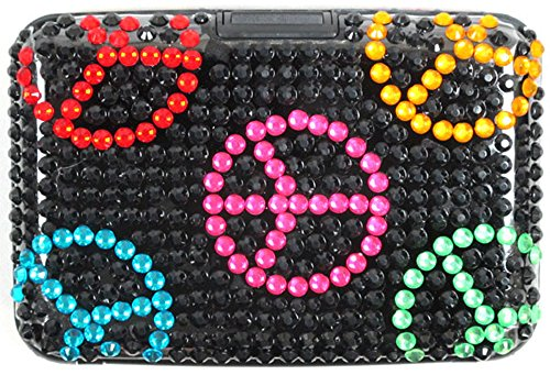 Bling Bling Card Case RFID Blocking Security 15 Pattern: Black, Blue, Green, Hot Pink, Pink, Purple, Red, Silver, Turquoise, Ladybug, Leopard, Peace, Rainbow, Zebras - Credit Measurement Card