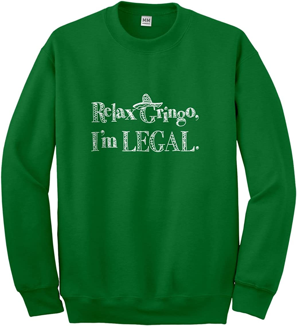 Indica Plateau Relax Gringo Im Legal Sombrero Hoodie for Kids