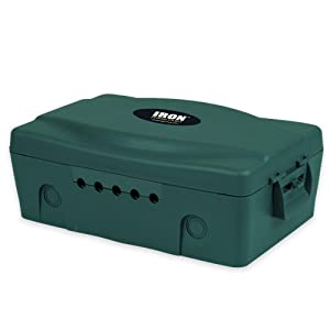 Weatherproof Extension Cord Connection Box - Waterproof Outdoor Cover for Electrical Connections, Green