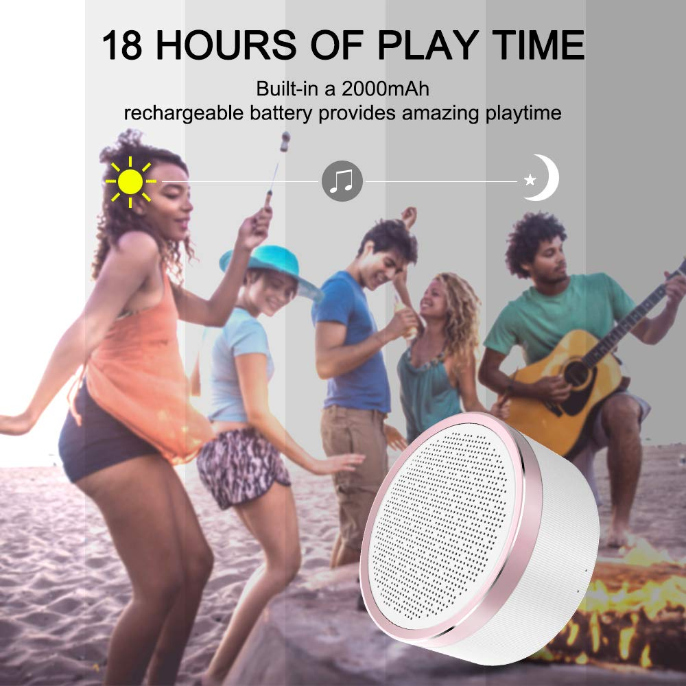 LINGYI Bluetooth Speaker Portable 4.2 Playtime 18H Wireless Speaker HD Sound Built-in Mic TF Card AUX Line for Party//iPhone//ipad//Samsung//Tablet//Laptop//Echo dot and More