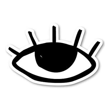 Amazon Com Eyelashes Drawing Sticker Funny Quotes Stickers