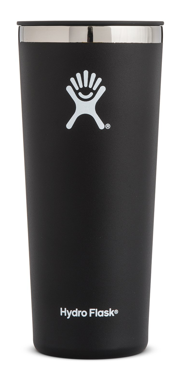 Hydro Flask 22 oz Tumbler Cup | Stainless Steel & Vacuum Insulated | Press-In Lid | Black