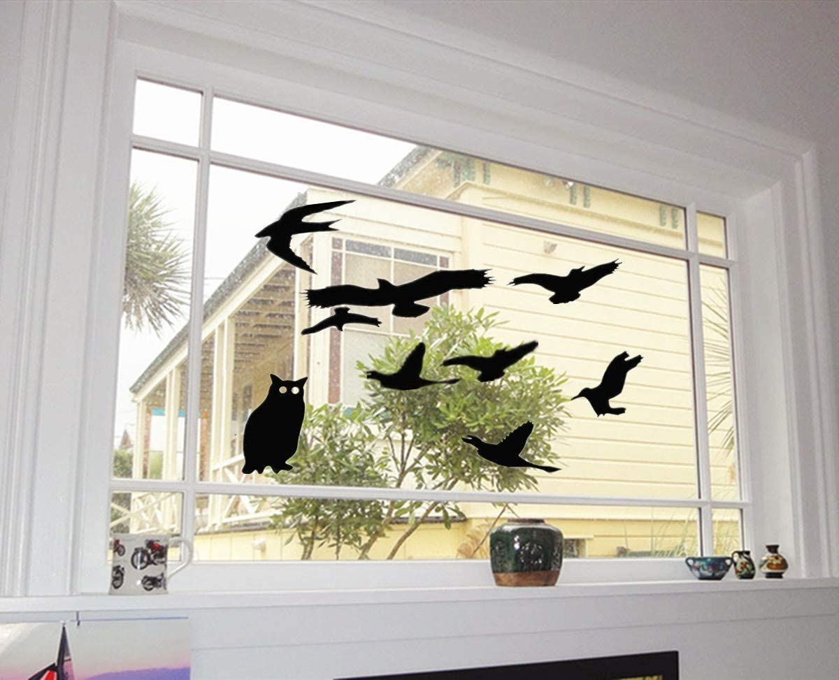 376 Glasmalerei Fensterdekoration Window Sticker Window Color Fensterbild Fenstersticker abl\u00f6sbar Halloween Eule Owl