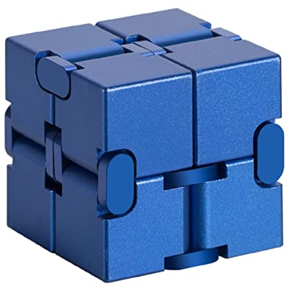 Alician Unlimited Cube Aluminum Alloy Reduced Pressure Pocket Toy Blue Out of Blue