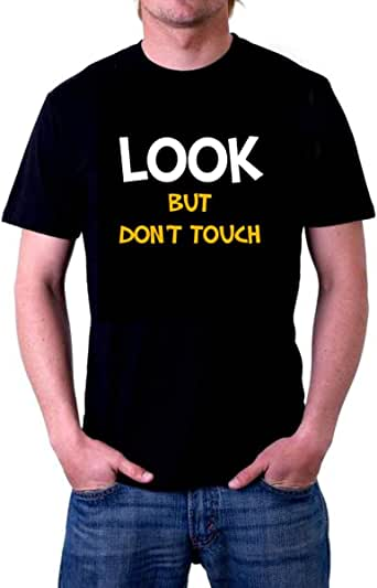 Look But No Touch T-Shirt For Men - Xl, Black