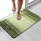 XINQING Restroom toilet mat mat door bathroom door bathroom bedroom carpet household water antiskid mat 5080cm,5080cm,green