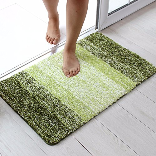XINQING Restroom toilet mat mat door bathroom door bathroom bedroom carpet household water antiskid mat 5080cm,5080cm,green by XINQING