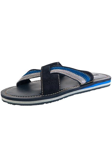 Hugo Boss - Zapatillas de estar por casa para hombre azul azul, color azul, talla 11-12 UK / 45-46 EU: Amazon.es: Zapatos y complementos