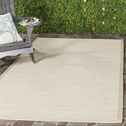 Runner Linen Rug Area (Safavieh Natural Fiber Collection NF143B Marble and Linen Sisal Runner (2'6