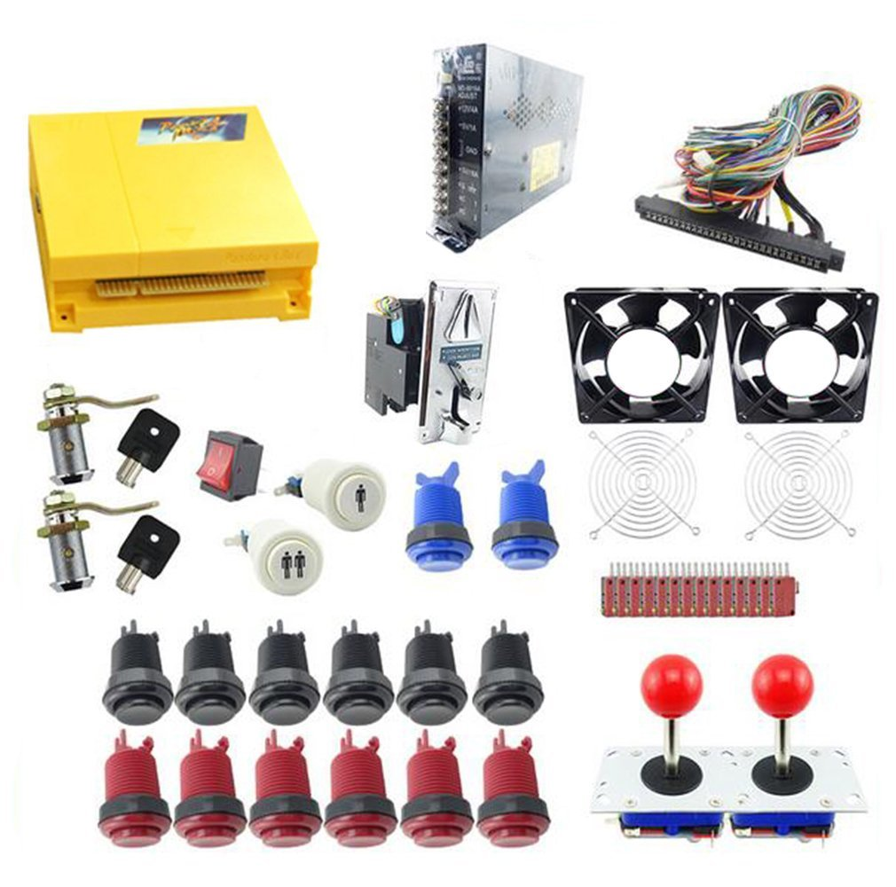 WINIT Arcade Parts Kit Jamma Game Board 645 in 1 pandora box 4 / Joystick /coin Acceptor /Microswitches /Buttons To Build Up Arcade Machine