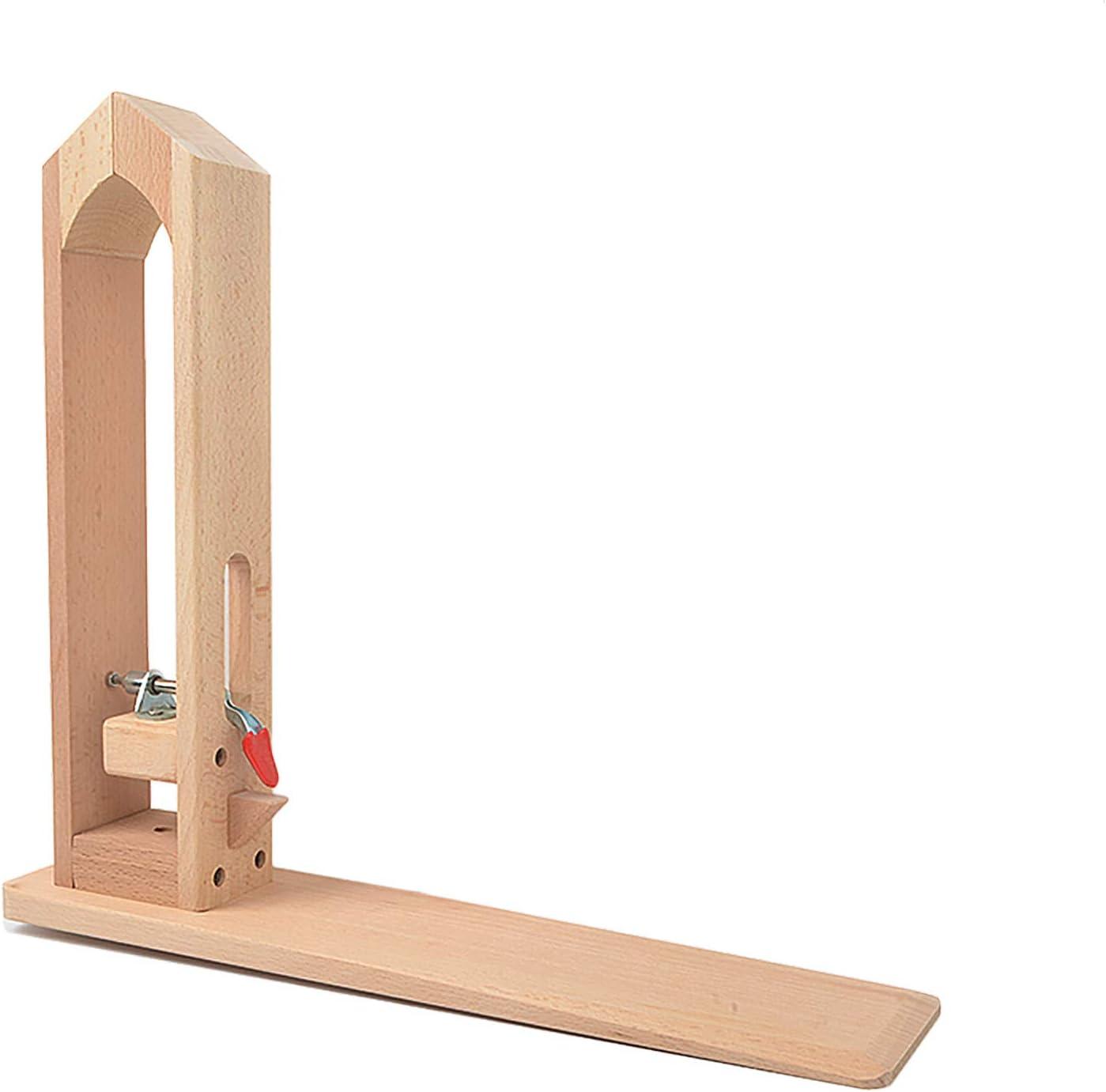 Mesa de madera para manualidades con cordones de escritorio, caballo, para costura a mano, herramientas de artesanía en cuero: