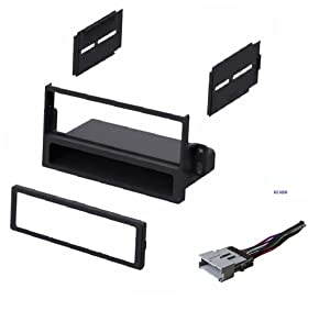 Car Stereo Dash Kit and Wire Harness for Installing a new Single Din Radio for 2004-2005 Saturn Ion and Vue