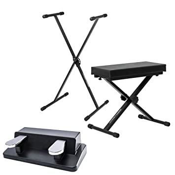 Ultimate Support jsxs300 solo medio de Brace de x soporte para teclado + banco de teclado + teclado M-Audio sp-dual doble Pedal: Amazon.es: Instrumentos ...