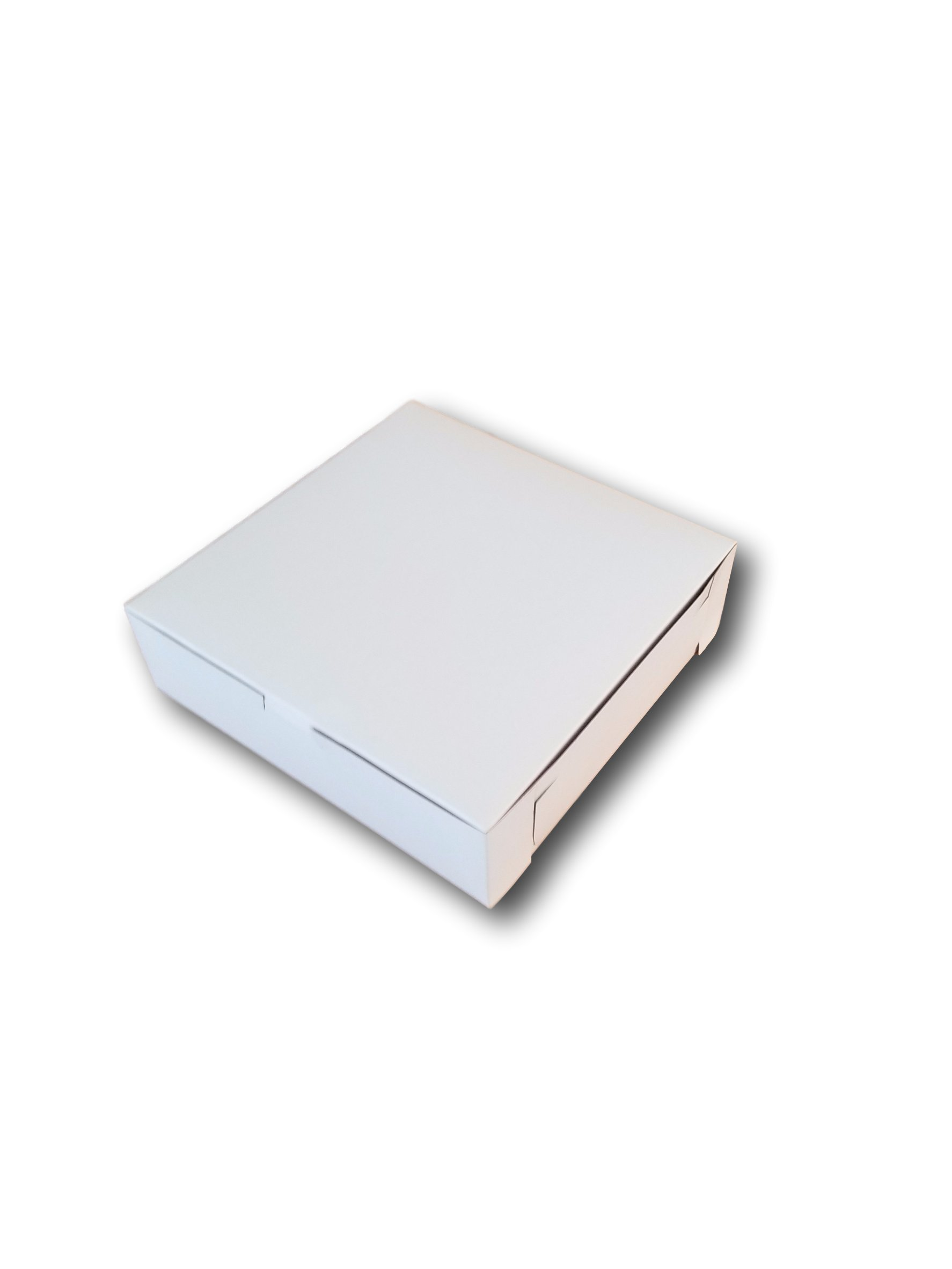MT Products 8 x 8 x 2.5 Clay Coated Kraft Paperboard White Non-Window Lock Corner Bakery Box (Pack of 15)