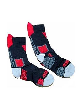 Dainese D-CORE plantilla adultos calcetines de compresión medias, negro/rojo, Med