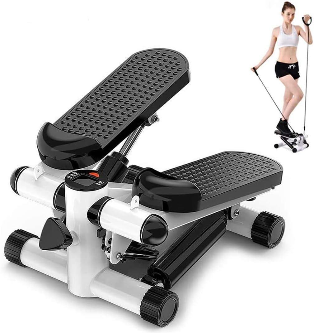 Máquinas De Step, Stepper 2 En 1 Cuerdas De Resistencia - Escaladora Y Swing Stepper para Usuarios Principiantes Y Avanzados con Pantalla, Máquinas De Cardio,Stepper Up-Down
