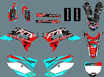 MXP DST0718 3M Customized Motorcross Graphics Motorcycle Decals Stickers Kit Fit for Honda CRF250R 2018 2019