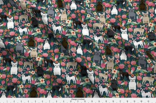 french bulldog fleece fabric - 8