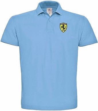 Ferrari Polo Bordado súper una Primera algodón - 080 - Blau: Amazon.es: Ropa y accesorios