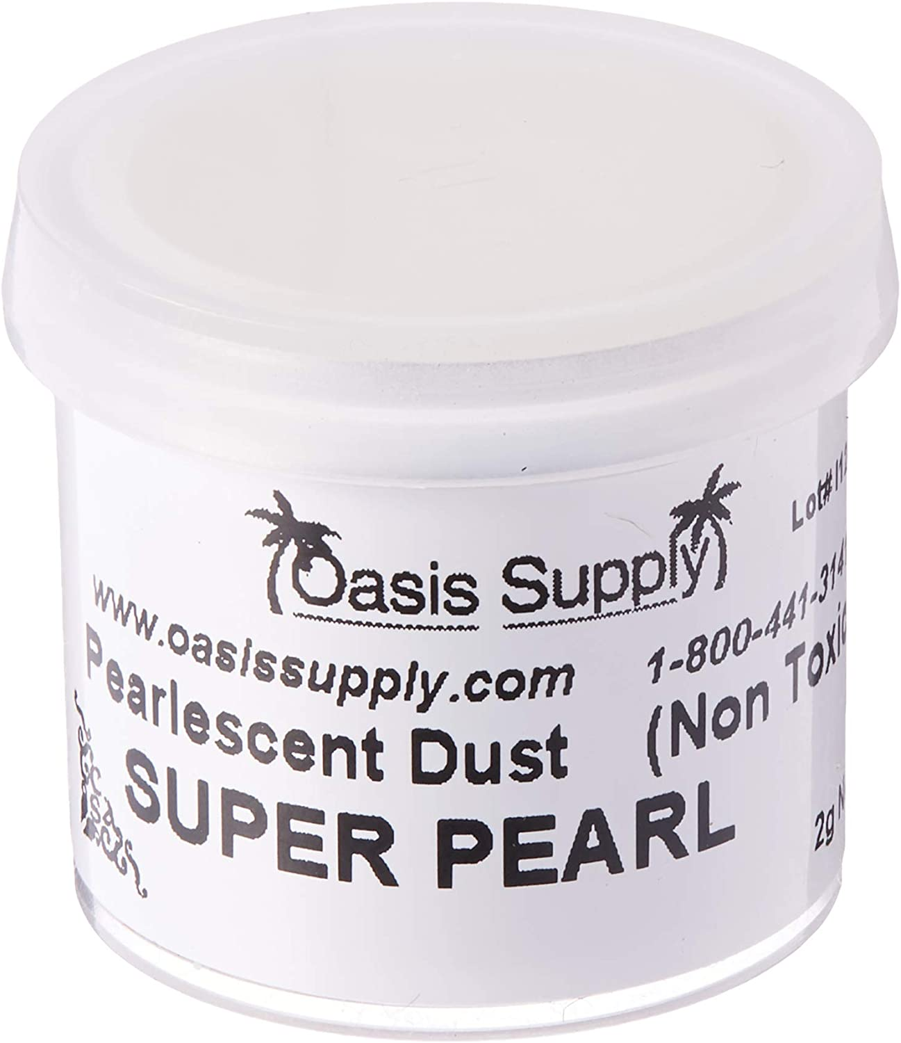 Luster Dusts Party Supplies, 2 Grams, Super Pearl
