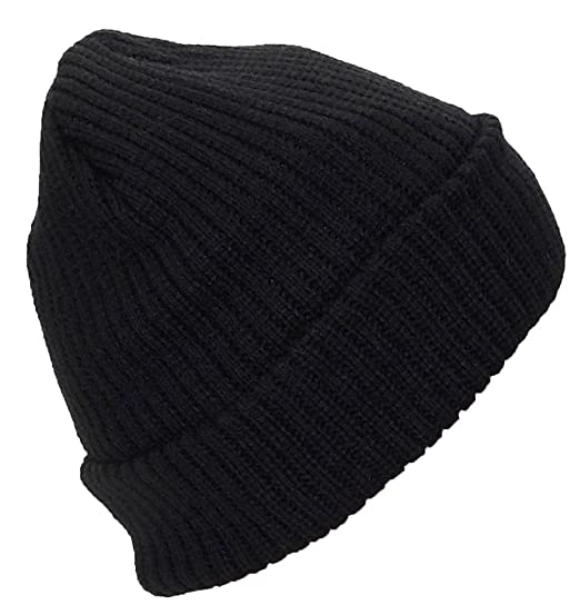 a288ecf5f69 Best Winter Hats Adult Solid Color Thick W Fleece Lined Cuffed Beanie (One  Size