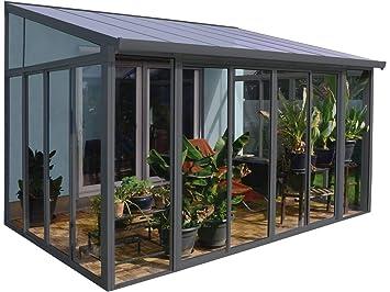 Amazon De Palram Veranda San Remo Wintergarten Grau 295x425x310 Cm