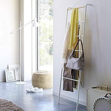 AYHa Perchero de escalera Toallero de hierro de pie contra la pared para el hogar, 45 x 160 cm, 2 colores opcionales,Blanco: Amazon.es: Bricolaje y herramientas