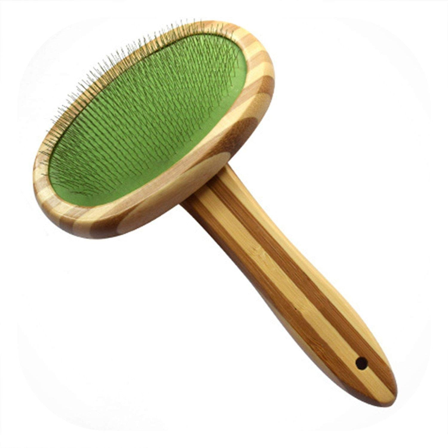 PG-One Animals Pet Hair Grooming Comb for Dogs Cat Dog Brush Cleaning Grooming Remove Floating Tool Wood Pet Supplies,White,Open Hair Comb