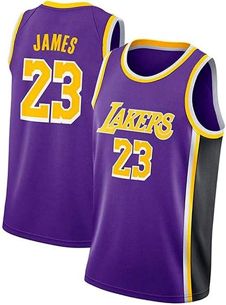 LASERIPLF Camiseta de Baloncesto para Hombre -Lakers # 23 James ...