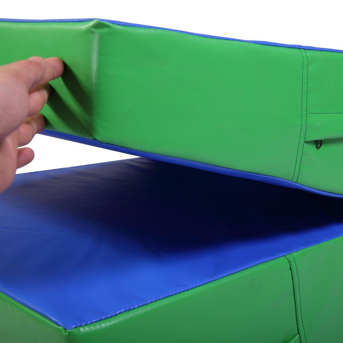 JAXPETY Gymnastics Incline Mat Folding Slope Gym Exercise Aerobics Tumbling Wedge