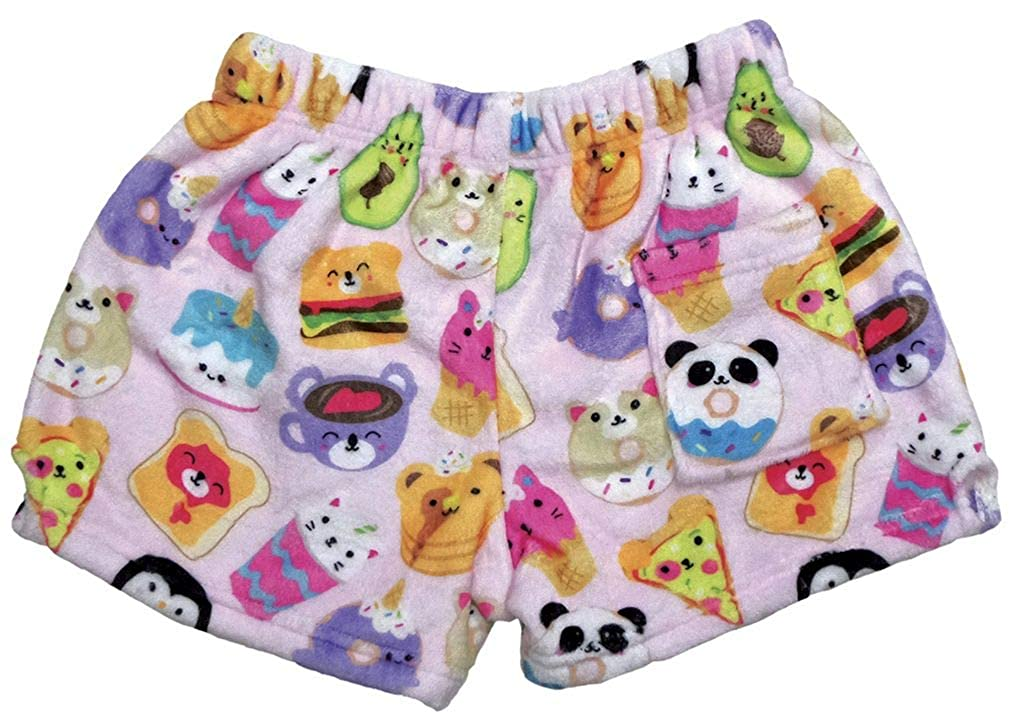 iscream Big Girls Silky Soft Plush Fleece Shorts 820-SSSKB Kawaii Besties Collection The Mines Press Inc