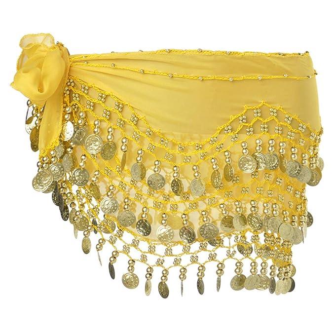 BellyLady Danza del Vientre Bufanda de Cadera 158 Monedas de Oro ...