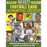 Beckett Football Alphabetical Checklist