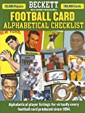 Beckett Football Alphabetical Checklist, Staff of Beckett Football, 193069251X