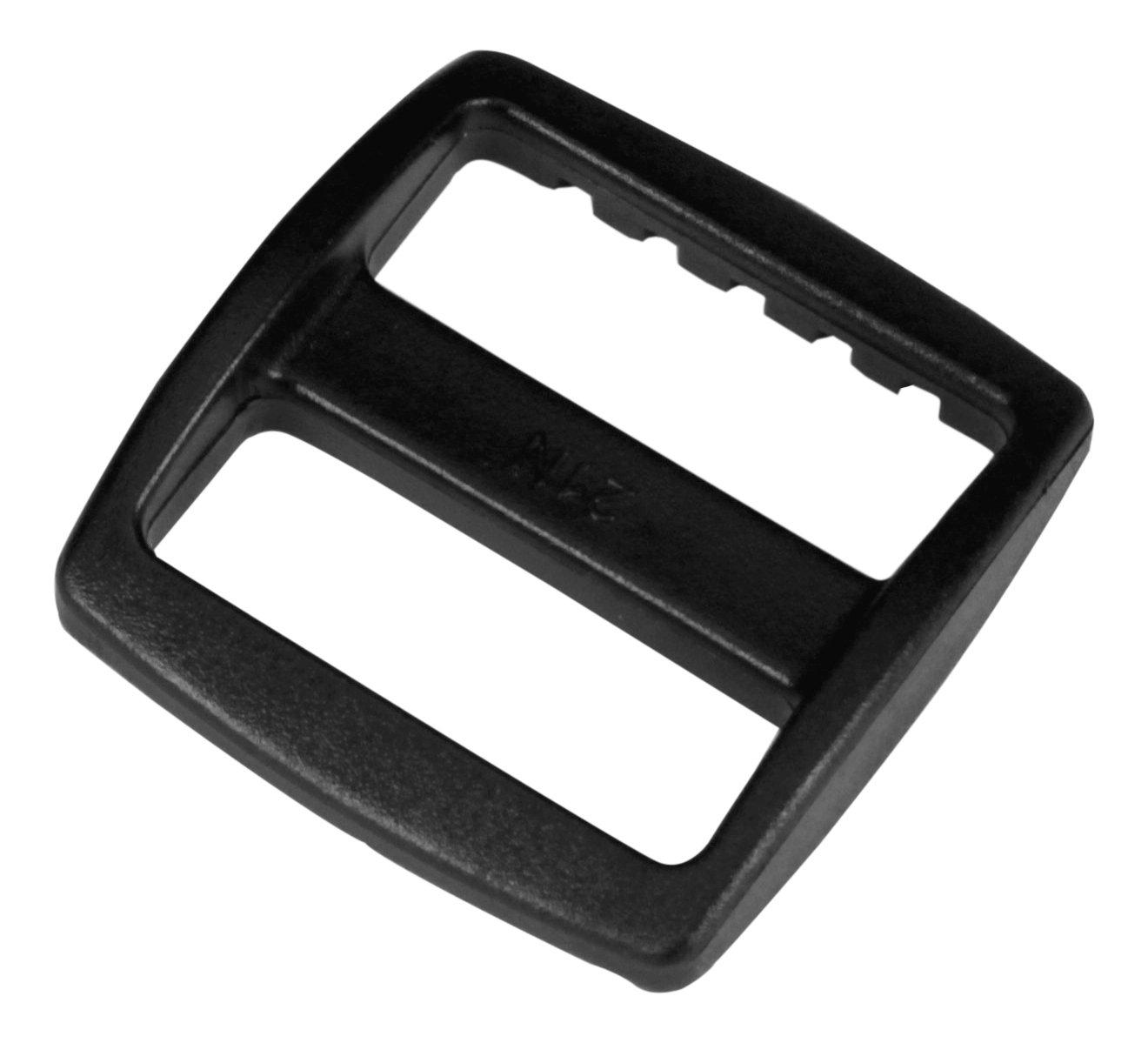Strapworks Black Plastic Wide Mouth Tri-Glide Slide – for Bag Straps, Rifle Slings, Dog Collars - 1 Inch, 10 Pack PLH-SLS-PLS-001-WDM-10P
