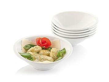 Porzellanteller Salatteller Pastateller Porzellan Weiß Neu 6 stück