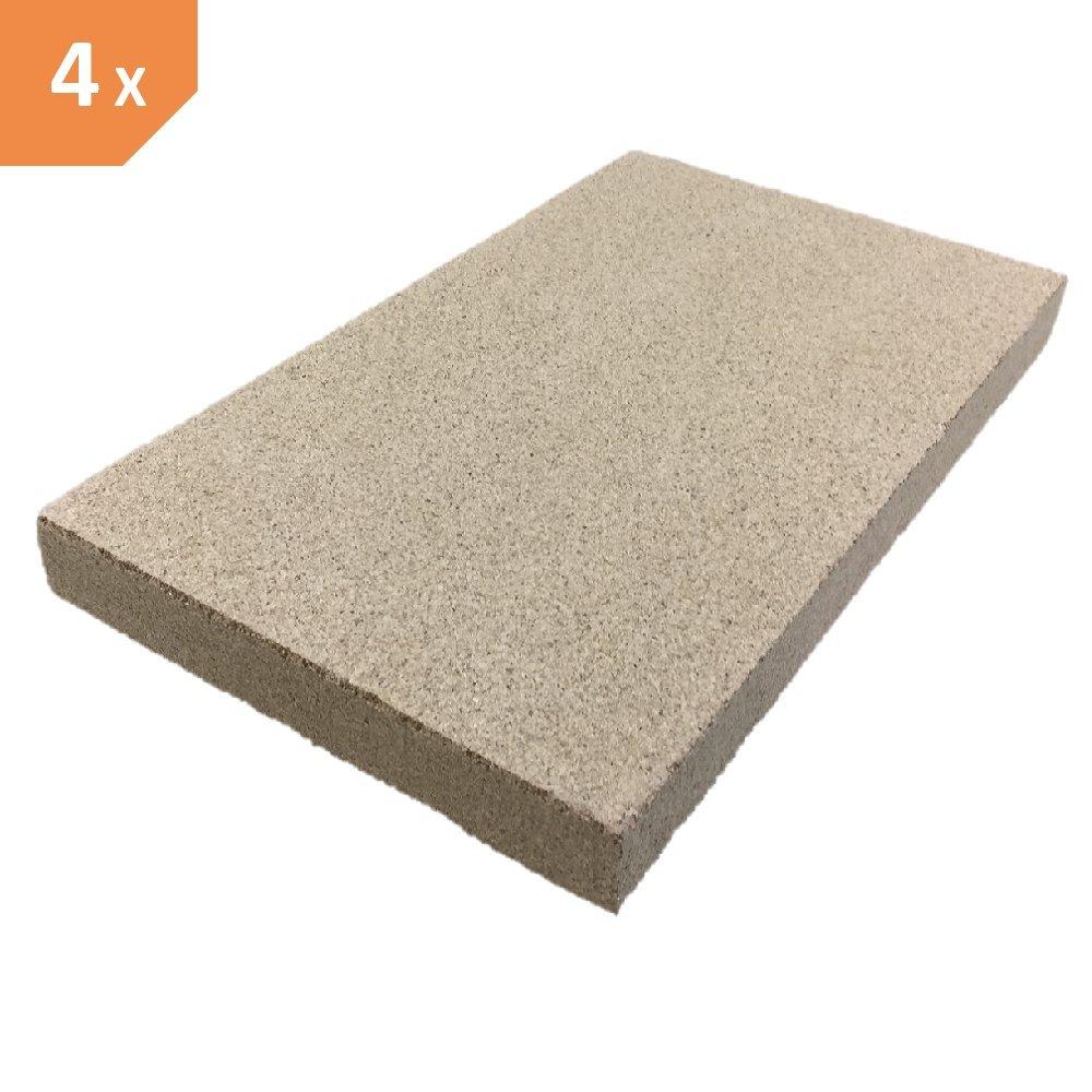 vermiculita (300 x 200 x 20 mm 600 kg/m³  –  4 Unidades Schamotte-Shop.de