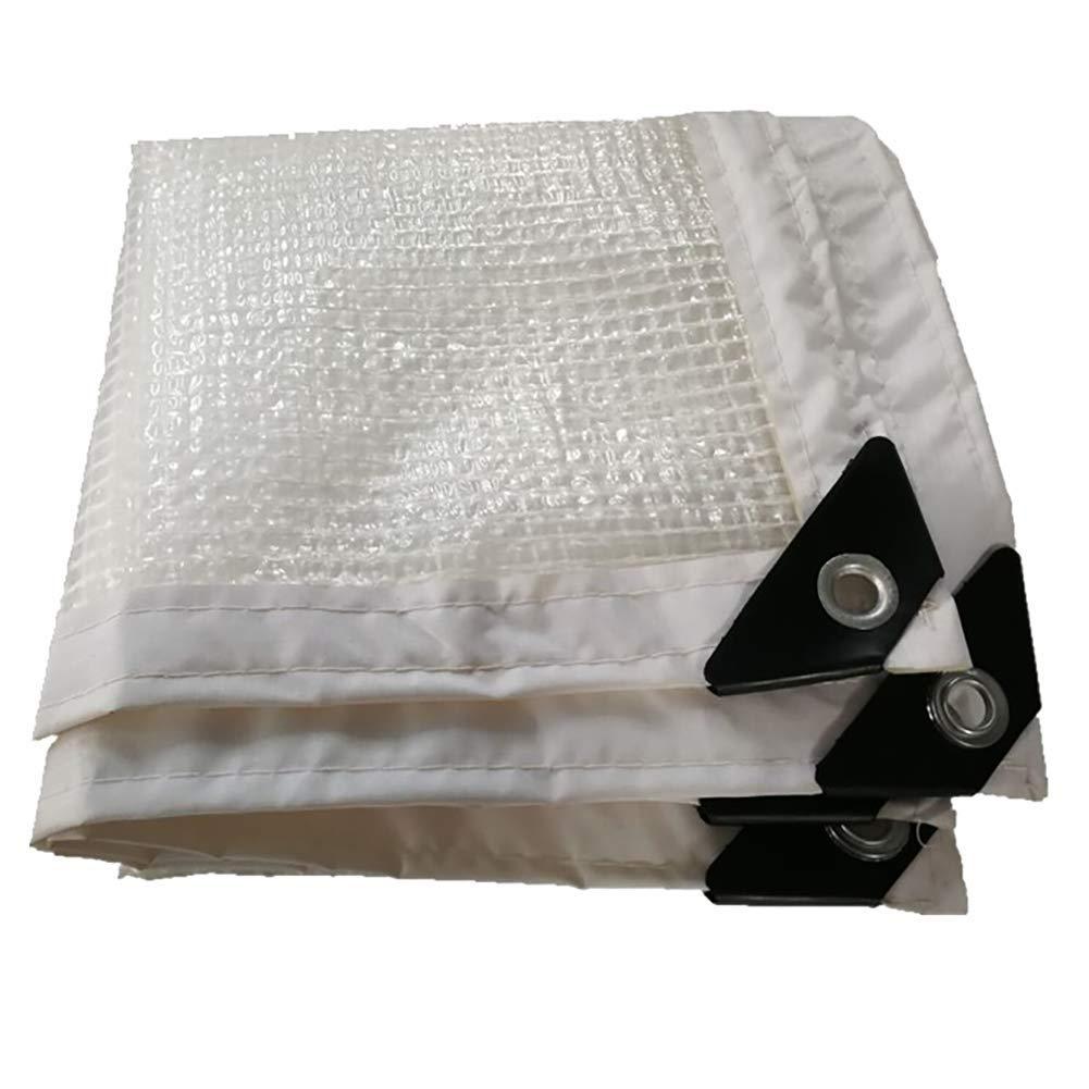 A 1×4m 6-WUTOLUOHANS Tente extérieure bÂche extérieure bÂche imperméable Transparente Transparente avec Tente de Tissu imperméable Trou