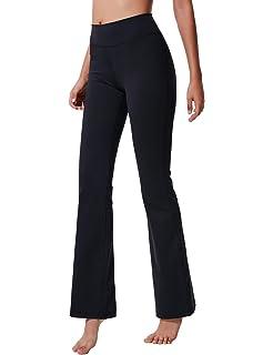 SEASUM Womens Boot-Cut Yoga Pants Bootleg Casual Workout Pants Stretch Comfy Soft High Waist Tummy Control
