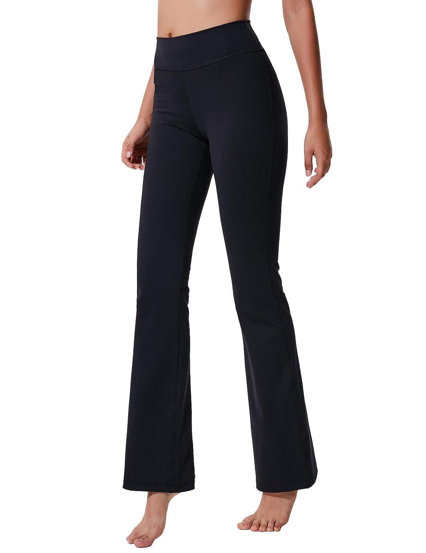 6a9a2ee10470d Amazon.com   ChinFun Women s Performance High Waist Bootleg Yoga Pants  Inner Hidden Pocket Tummy Control Bootcut Sweatpants Ankle Leggings    Sports   ...